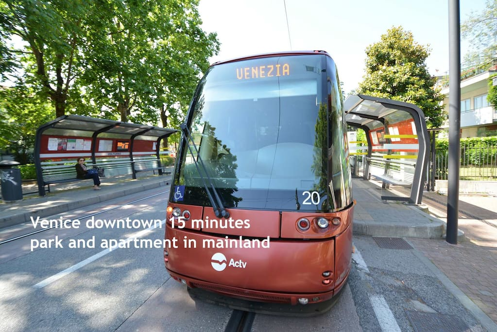 Tram downstairs: get to downtown in minutes