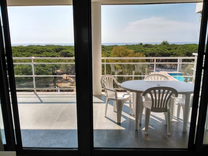 Apartamento a 100m de playa,gran terraza y piscina
