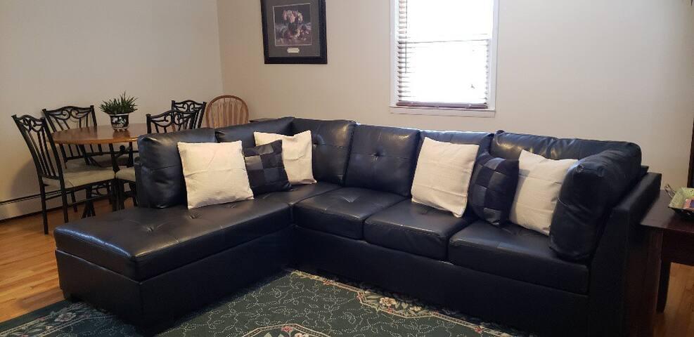 Quiet Cozee Monee, spacious 1 bedroom apartment
