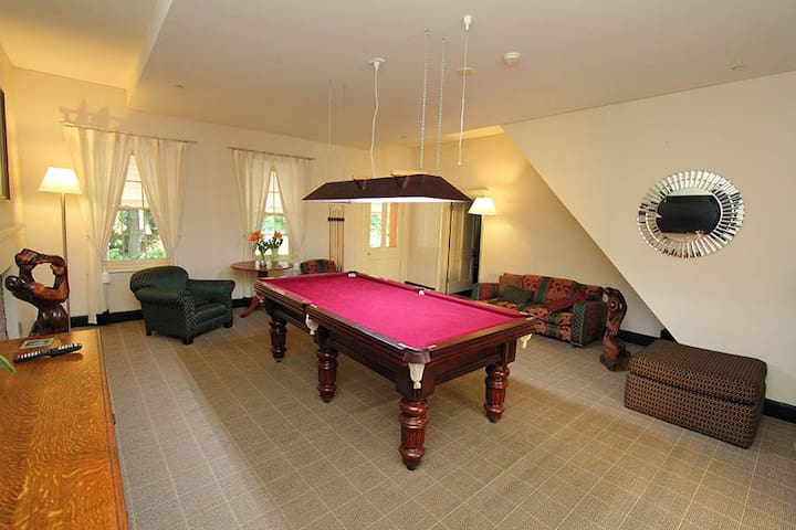 Guest have full use of the Billard's room as well and the beautiful historic house.