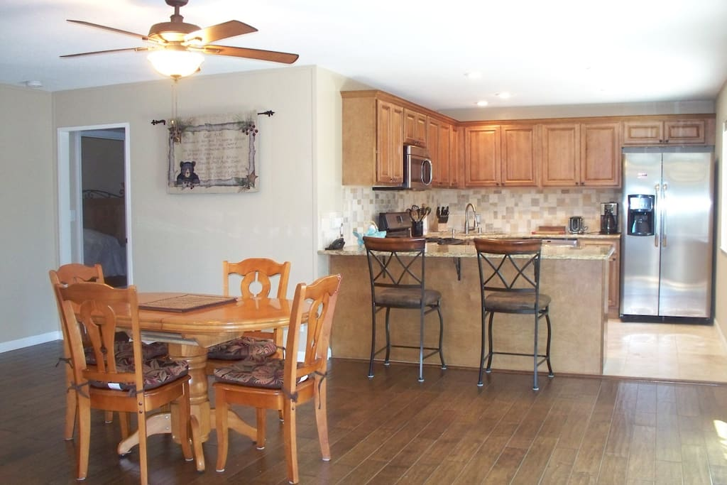 Open concept/great room/dining/kitchen