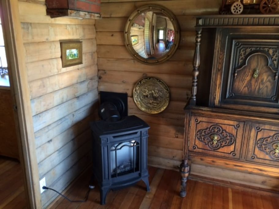 Inside the living area of the cabin