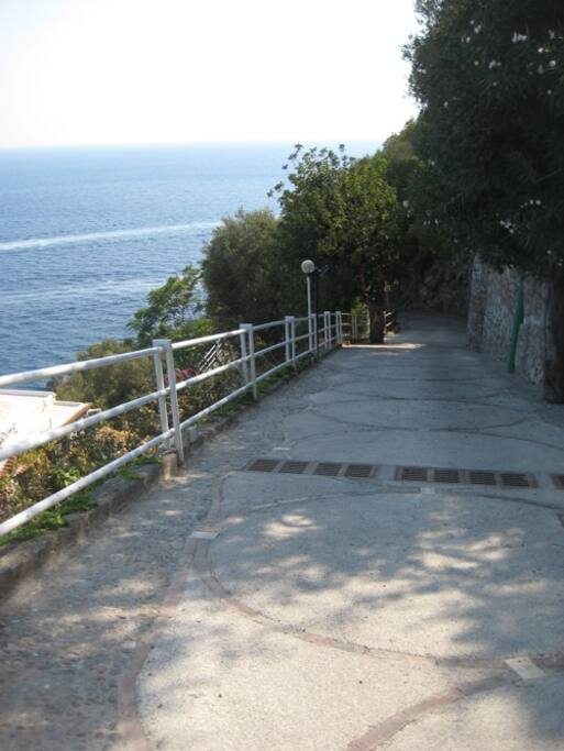 Ramp to the parking lot