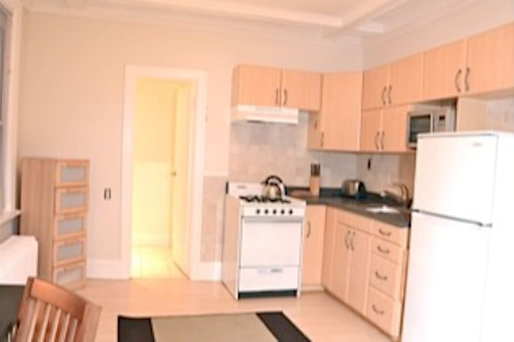 Fully equipped kitchen, microwave etc