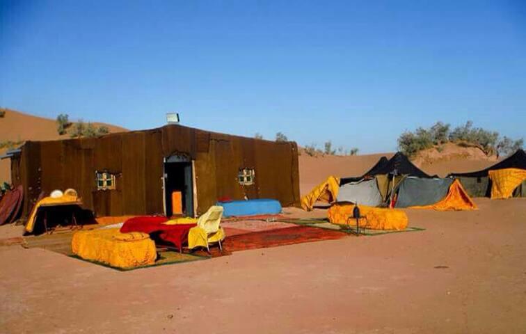 Lovely breakfast around berber tent