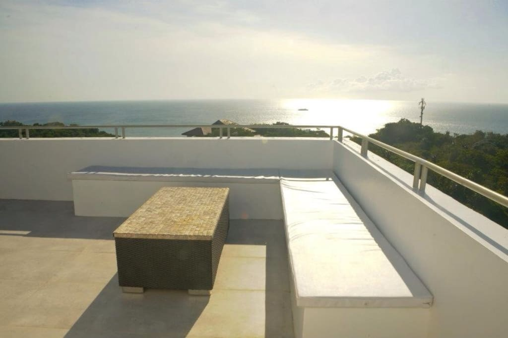 More of the expansive terrace, ideal for stargazing and seaviews