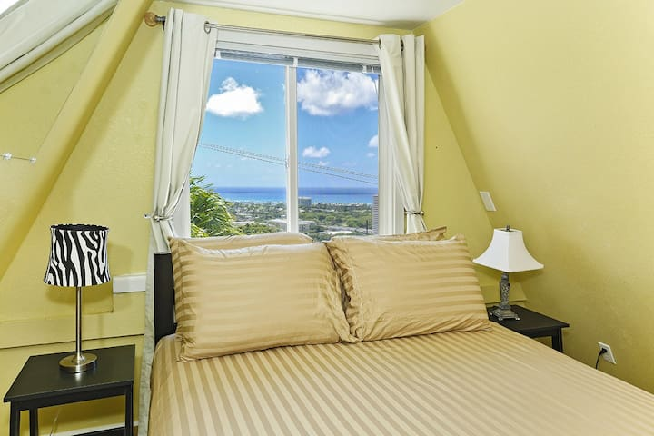 View of the ocean from the bedroom...