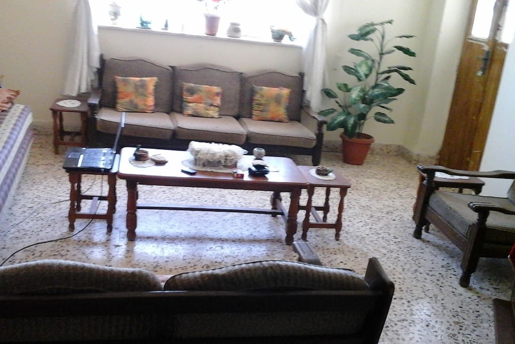 Comfortable sitting room , with 2 entrances