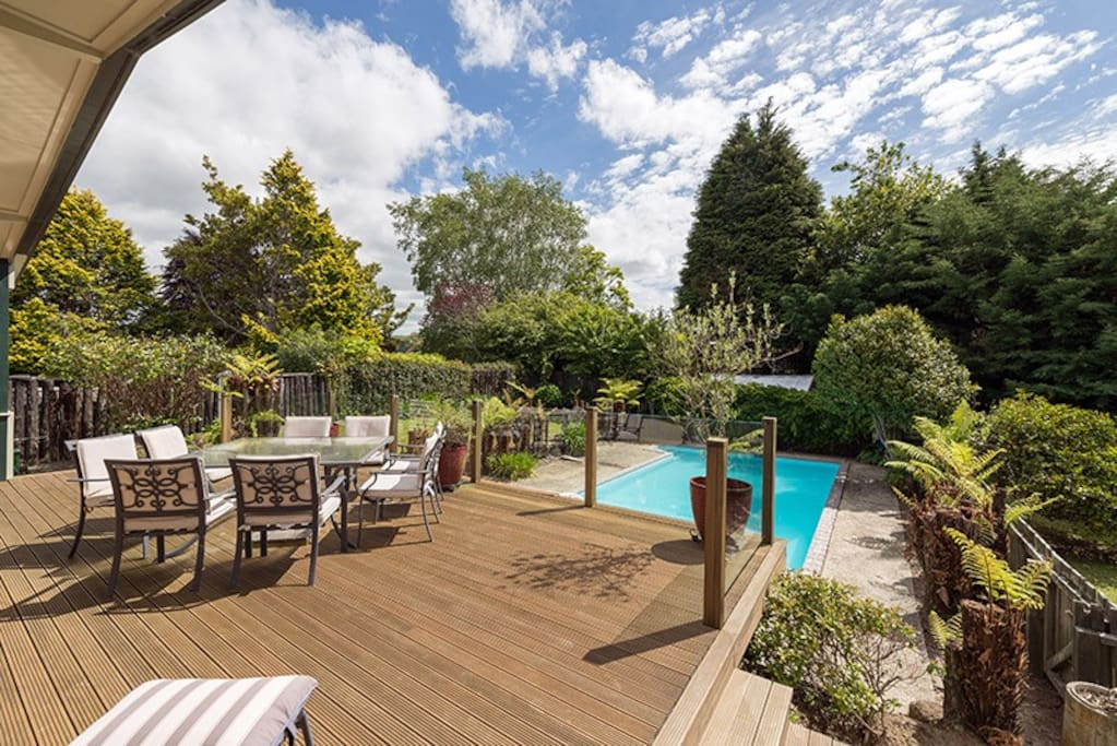 Private pool and deck great for summer days