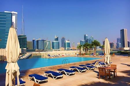 Spacieux meublé 1 chambre (piscine & gym) - Dubai