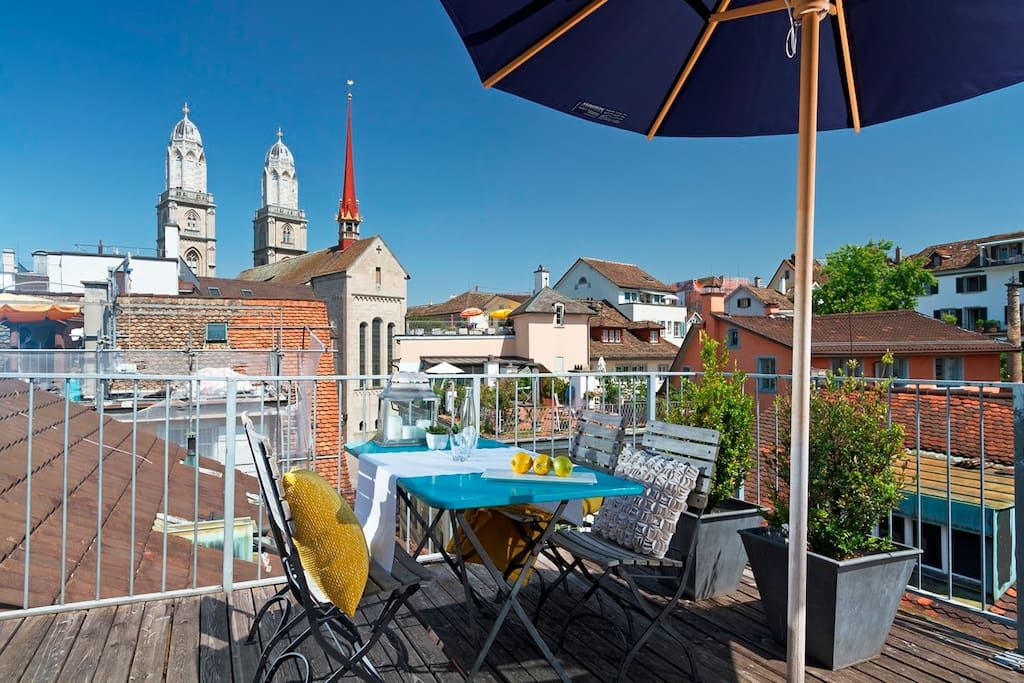 Apartment with own roof top terrace apartments for rent for Terrace zurich