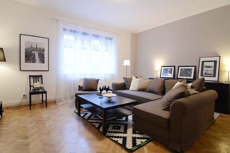 Pedestrian zone stylish apartment