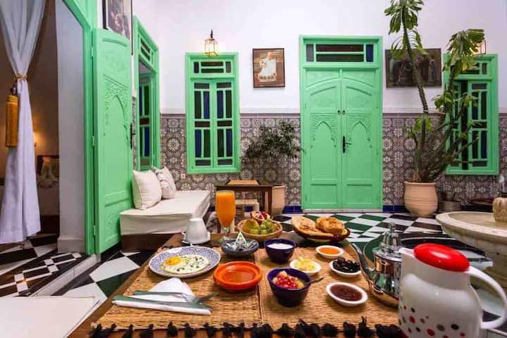Riad Rose Meryam chambre Bleu Majorelle