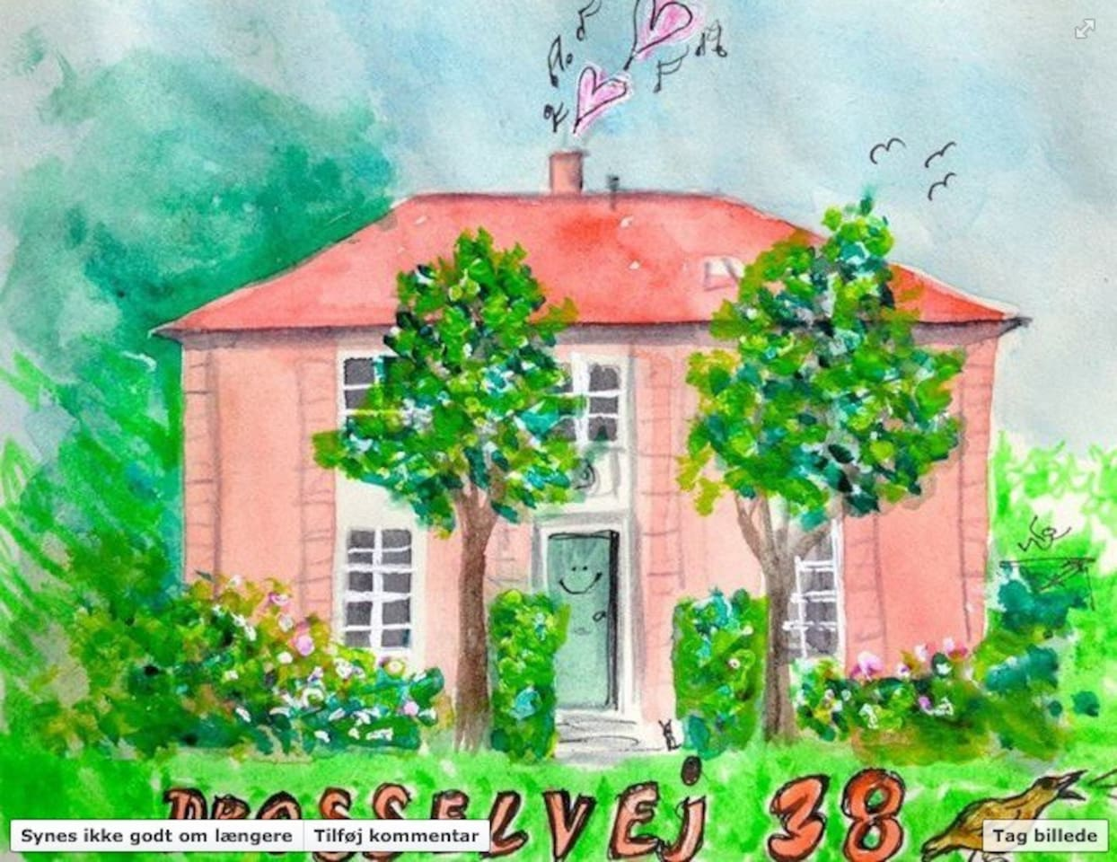 I got this drawing of the house from an old friend after she celebrated her birthday in the house.
