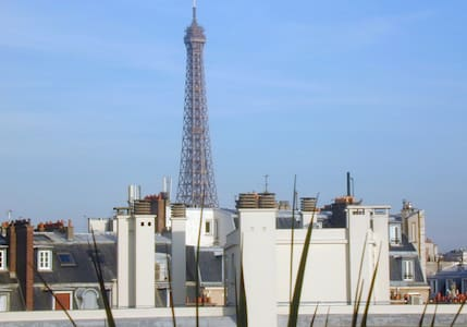 Zen apartment and Eiffel tower view - Paris