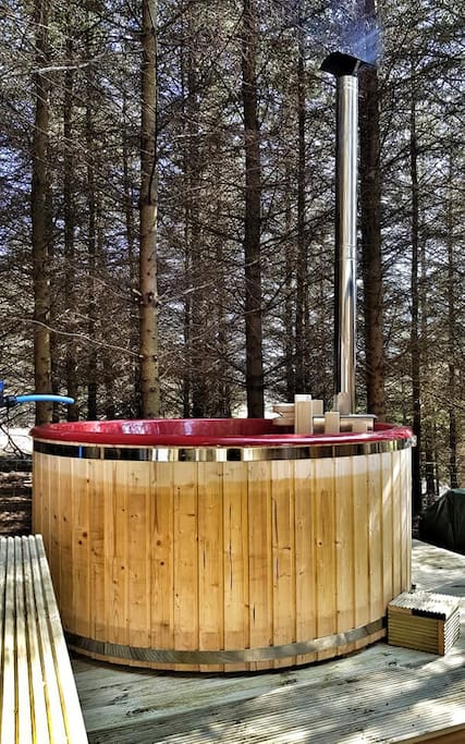 Log Fired Hot Tub