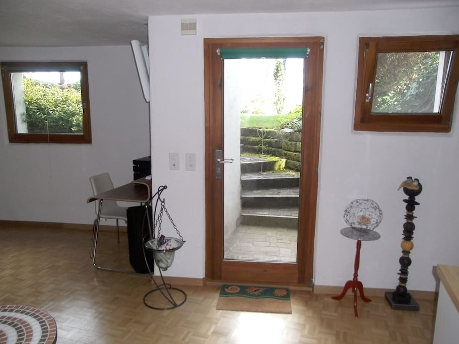 View from the Inside to the Access & Lawn