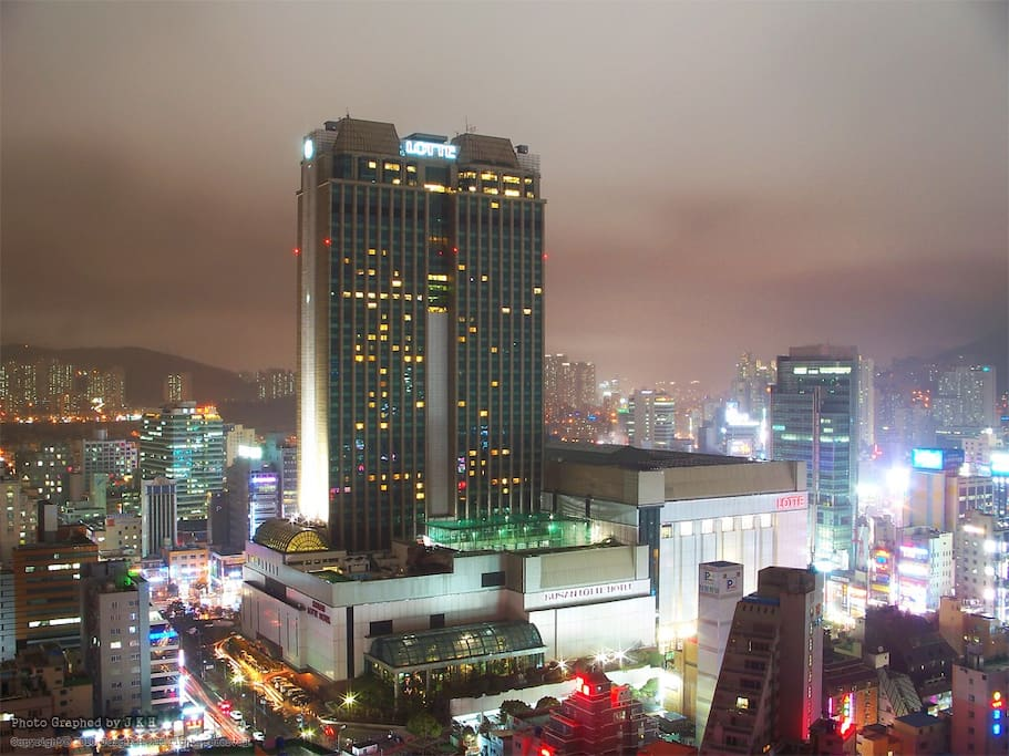 The Busan night view from the house