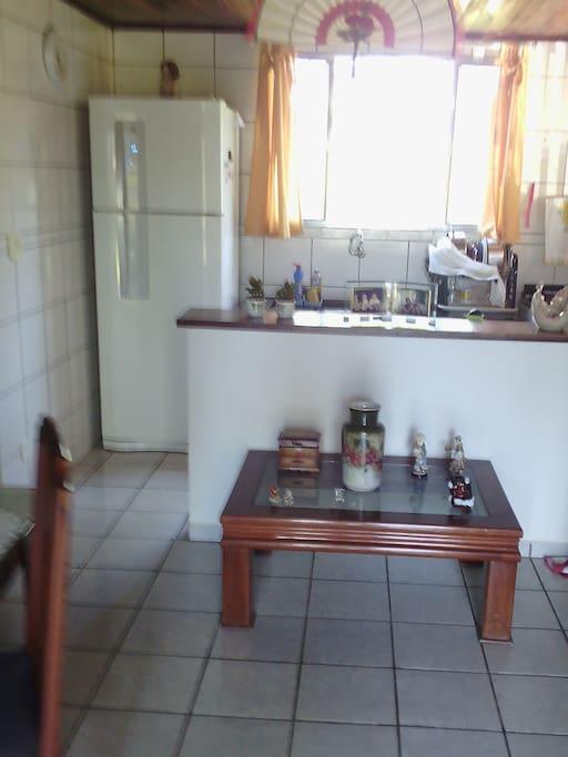 Vista da cozinha.