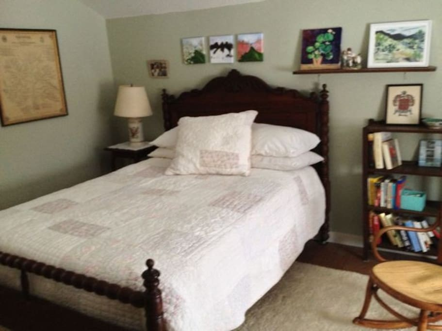 Double bed with shared bath.