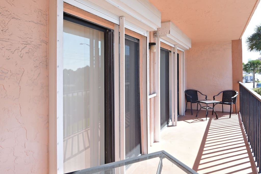 The condo's huge balcony can be accessed from both the great room and master bedroom.