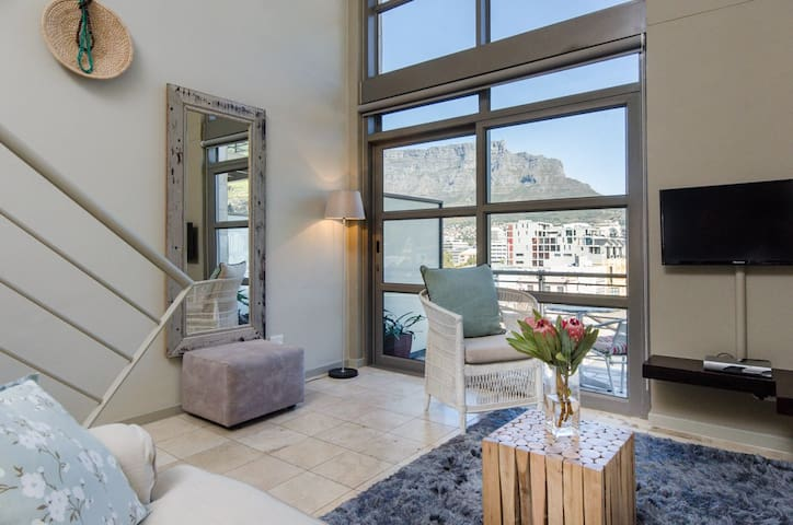 See Table Mountain up close from chic airy loft