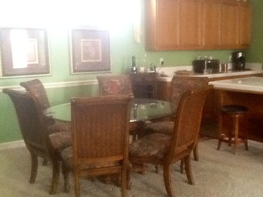 The dinning room and kitchen allow for great conversation and game nights!