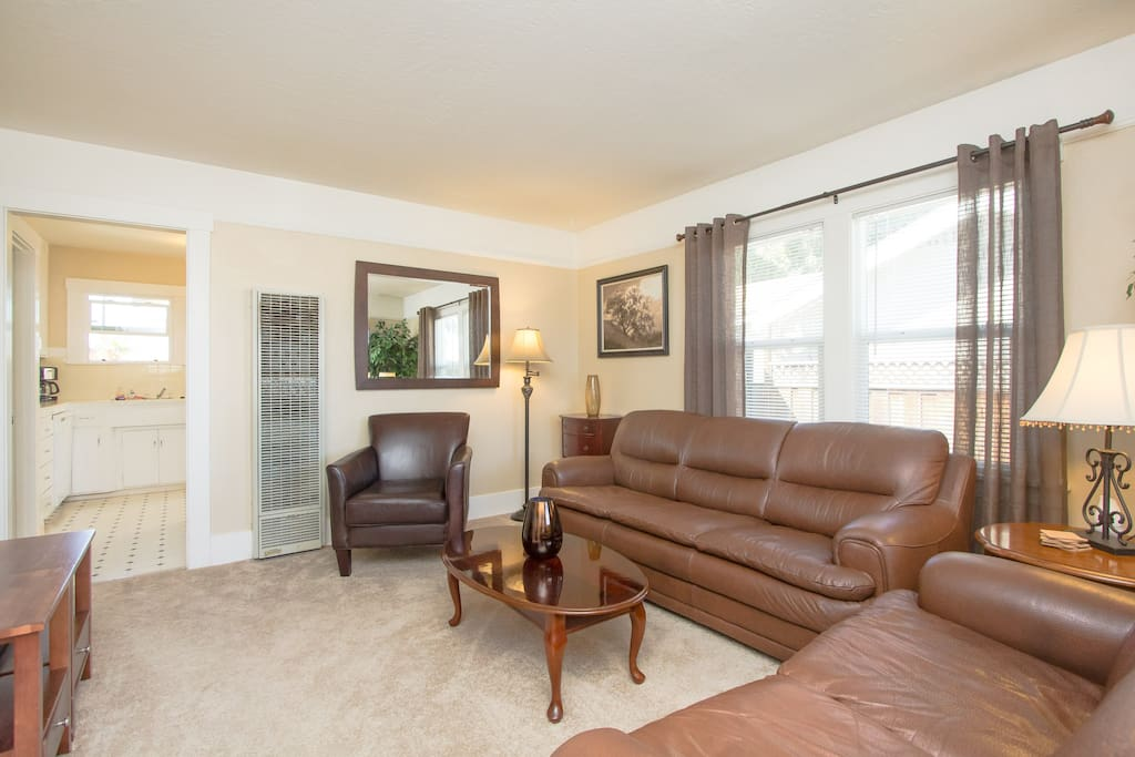 Relax and unwind after a long day in the comfortable living room.