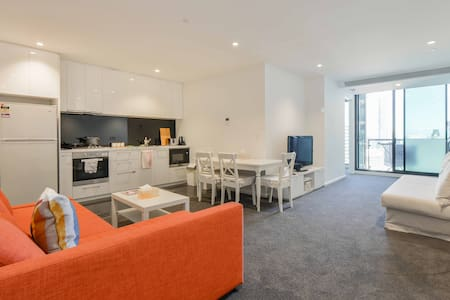 Amazing View in CBD, Large apt 5 beds with parking - Melbourne - Apartament