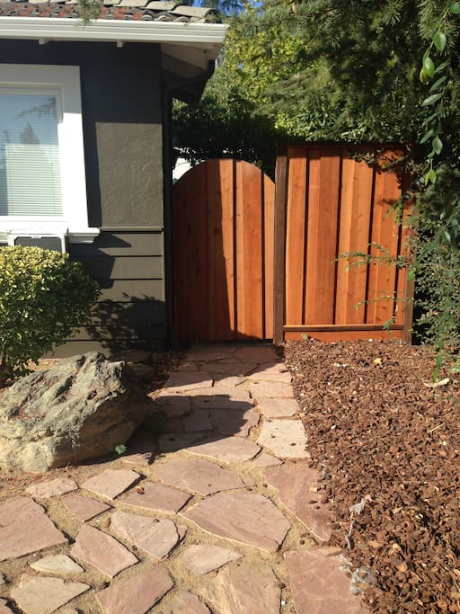 Private entrance to your private yard
