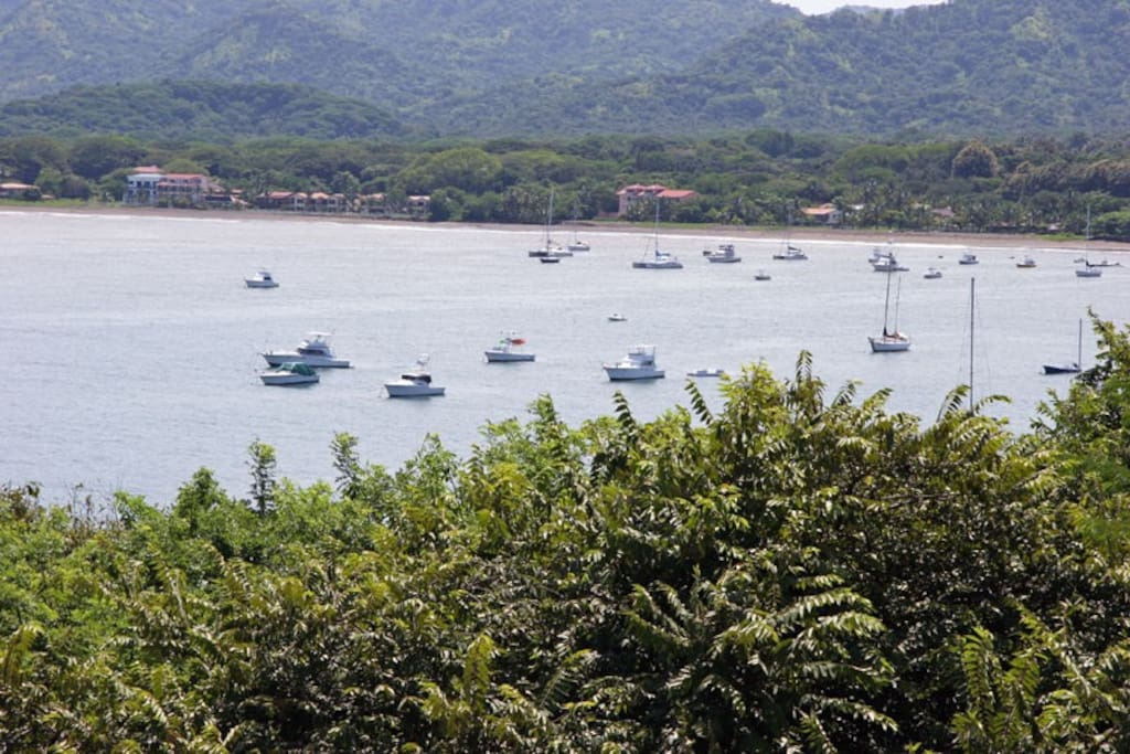 View of Potrero Bay from balcony.