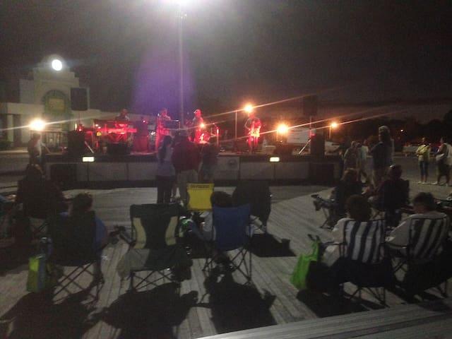 Ocean beach park summer season night live