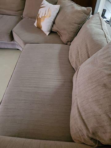 A wonderful big comfy couch