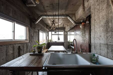 Goemon bath! Free Wifi near SHIBUYA ST. Good view! - Setagaya - Guesthouse