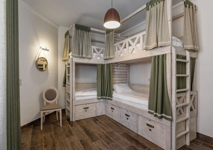 Bed in 8-bed room for women