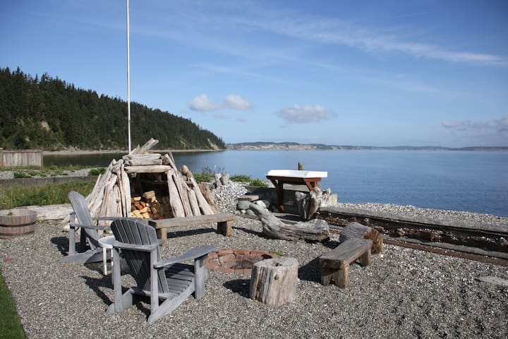 enjoy a campfire or play in the driftwood fort.