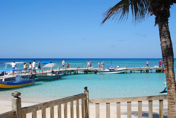 Stunning condo, West Bay beach, island paradise!