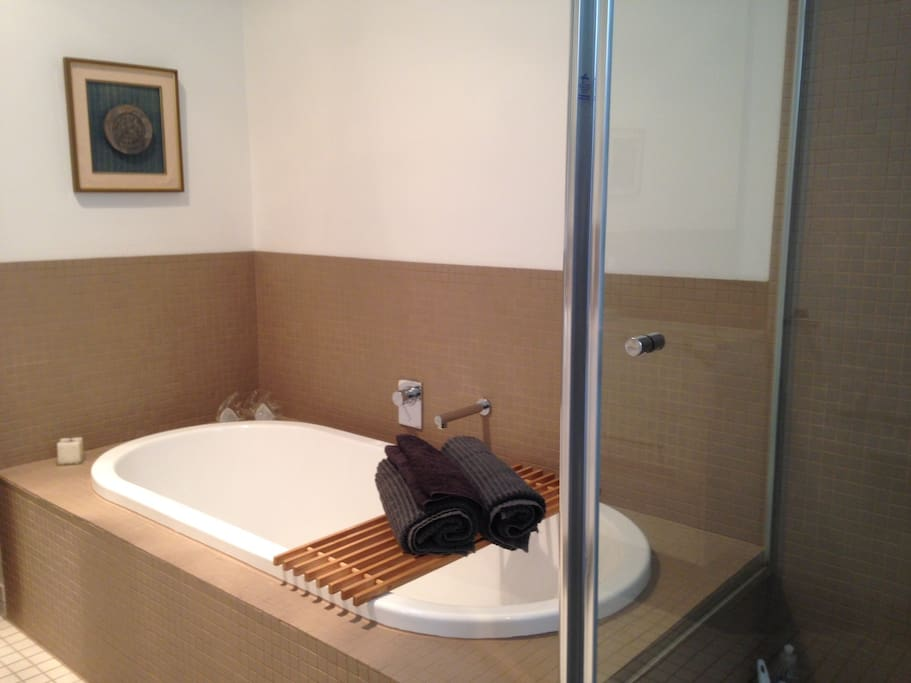 Full size bath after your travels seperate just 4 u