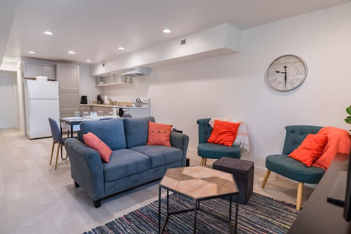NEW Eco Basement Apartment, Near UVA & Downtown