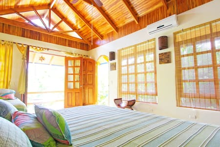 Our only bungalow with a King sized bed. Very private!