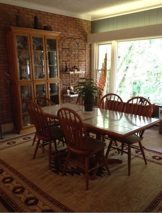 Dining room, part of great room.