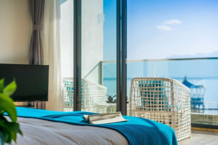 洱海海鸥季,两晚免费接机/含早,暮色浴缸海景大床房