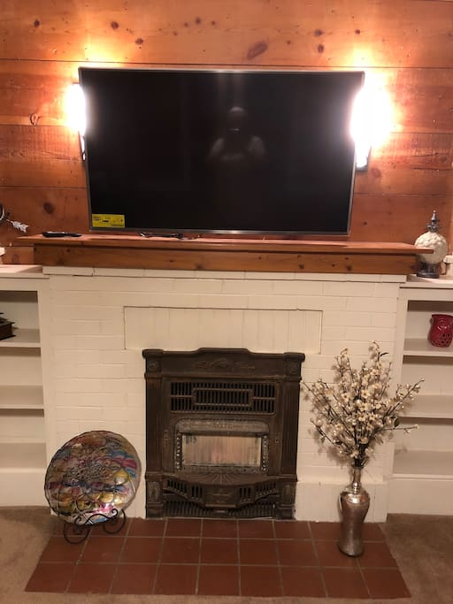 "48"" 4K smart tv in the living room"