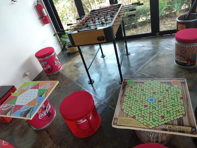 Foosball and board games at Play Room