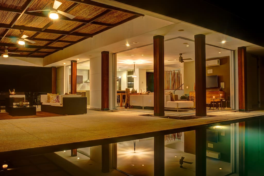 The view inside the house from your own private infinity pool