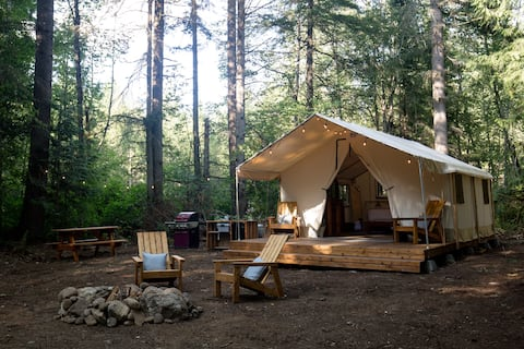 Glamping at Wild Berry Haven on Centennial Trail