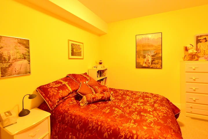 Very comfy full size form bed in a quiet and centrally air-conditioned room