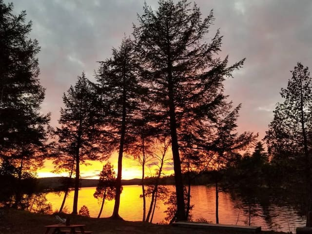 Beautiful sunsets seen from the Lodge