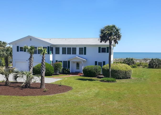 The Beachcomber is an oceanfront family friendly and pet friendly Myrtle Beach home with stunning beach views