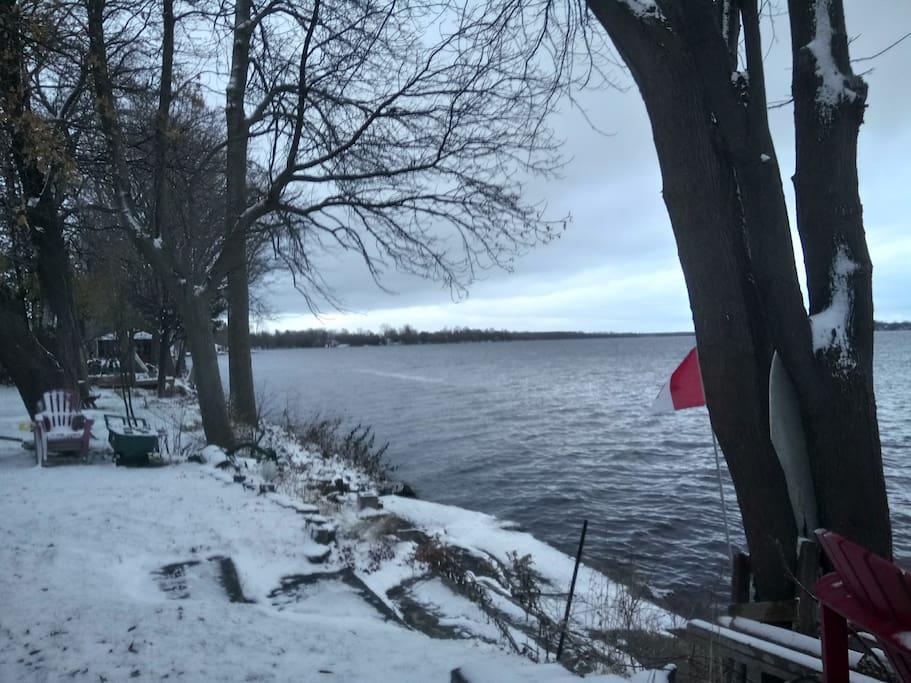 Lake Steps Away